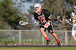 Palos Verdes, CA 03/30/10 - unidentified Palos Verdes player in action during the Palos Verdes-Peninsula JV Boys Lacrosse game.