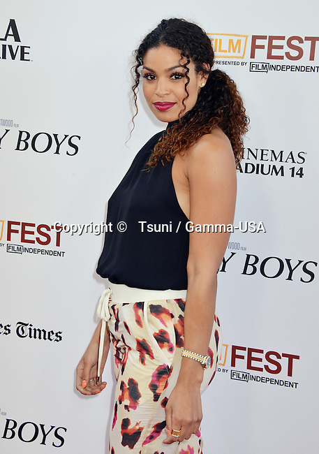 Jordin Sparks  at the Jersey Boys Premiere at the Regal Theatre in Los Angeles.
