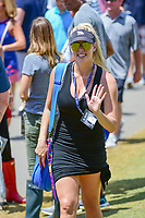 Jon Rahm's (ESP) girlfriend, Kelley Cahill approaches the 8th tee to watch Jon during Saturday's round 3 of the PGA Championship at the Quail Hollow Club in Charlotte, North Carolina. 8/12/2017.<br /> Picture: Golffile | Ken Murray<br /> <br /> <br /> All photo usage must carry mandatory copyright credit (&copy; Golffile | Ken Murray)