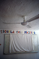 A crisis center in Cancún for women and children who have been victims of violence run by Lydia Cacho. She has been receiving death threats for eight years but is undaunted. May 25, 2005.  Cancun, Mexico.