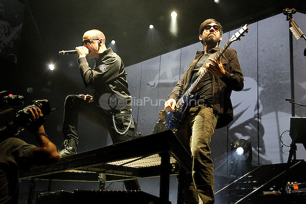 Linkin Park performs at Wells Fargo Center in Philadelphia, Pa on January 31, 2011  © Star Shooter / MediaPunchInc