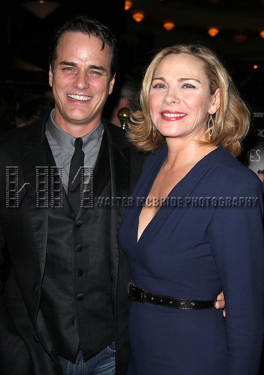 Paul Gross & Kim Cattrall.attending the Opening Night Performance after party for 'Private Lives' at Bond 45 in New York City on 11/17/2011.
