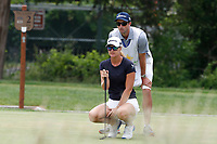 Anna Nordqvist (SWE) lines up a putt on the first hole during the final round of the ShopRite LPGA Classic presented by Acer, Seaview Bay Club, Galloway, New Jersey, USA. 6/10/18.<br /> Picture: Golffile | Brian Spurlock<br /> <br /> <br /> All photo usage must carry mandatory copyright credit (&copy; Golffile | Brian Spurlock)