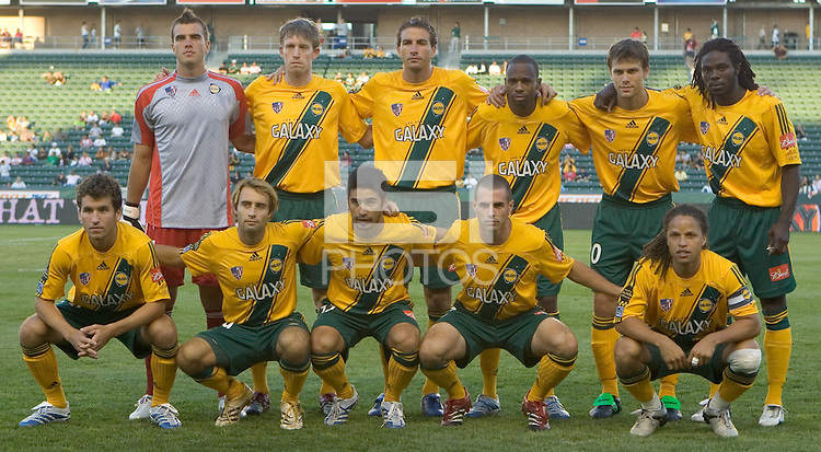 LA Galaxy. Necaxa defeated LA Galaxy in an International friendly match 1-0 at The Home Depot Center in Carson, California, Wednesday July 12, 2006.