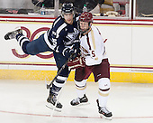 Blake Gal (StFX - 25), Michael Matheson (BC - 5) - The Boston College Eagles defeated the visiting St. Francis Xavier University X-Men 8-2 in an exhibition game on Sunday, October 6, 2013, at Kelley Rink in Conte Forum in Chestnut Hill, Massachusetts.