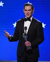 SANTA MONICA, CA - JANUARY 12: Billy Crudup accepts the Best Supporting Actor in a Drama Series award for 'The Morning Show'  onstage at the 25th Annual Critics' Choice Awards at the Barker Hangar on January 12, 2020 in Santa Monica, California. (Photo by Frank Micelotta/PictureGroup)