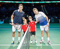 Februari 11, 2015, Netherlands, Rotterdam, Ahoy, ABN AMRO World Tennis Tournament, Stan Wawrinka (SUI) - Jesse Huta Galung (NED)<br /> Photo: Tennisimages/Henk Koster