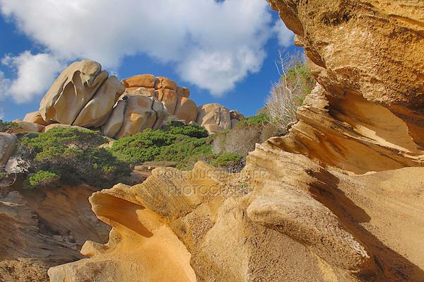 Rock formations, Capo Testa, Gallura, Sardinia, Italy