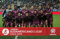 RANCAGUA - CHILE, 07-02-2019:  Jugadores de Venzuela posan para una foto previo al encuentro entre Venezuela y Colombia por la fecha 4 dela fase final del Sudamericano Masculino Sub 20 Chile 2019 jugado en el estadio El Teniente de Rancagua en Rancagua, Chile. / Players of Venzuelapose to a photo prior the match between Venezuela and Colombia for the date 4 of final phase of South American Men U-20 Chile 2019 played at El Teniente de Rancagua stadium in Rancagua, Chile. Photo: VizzorImage / Pablo Vera / Cont / XpressMedia