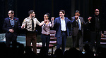 Christopher Demos-Brown, Jeremy Jordan, Kerry Washington, Steven Pasquale, Eugene Lee and Kenny Leon during the Broadway Opening Night Curtain Call for 'AMERICAN SON' at the Booth Theatre on November 4, 2018 in New York City.