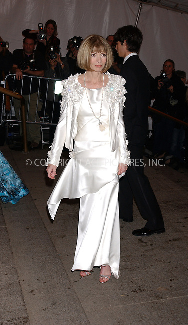 WWW.ACEPIXS.COM . . . . . ....NEW YORK, MAY 2, 2005....Anna Wintour arrives at The Costume Institute Gala Celebrating Chanel at the Metropolitan Museum of Art.....Please byline: KRISTIN CALLAHAN - ACE PICTURES.. . . . . . ..Ace Pictures, Inc:  ..Craig Ashby (212) 243-8787..e-mail: picturedesk@acepixs.com..web: http://www.acepixs.com