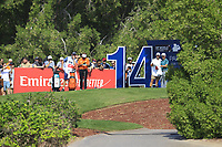 Xander Schauffele (USA) on the 14th tee during the final round of the DP World Tour Championship, Jumeirah Golf Estates, Dubai, United Arab Emirates. 18/11/2018<br /> Picture: Golffile | Fran Caffrey<br /> <br /> <br /> All photo usage must carry mandatory copyright credit (© Golffile | Fran Caffrey)