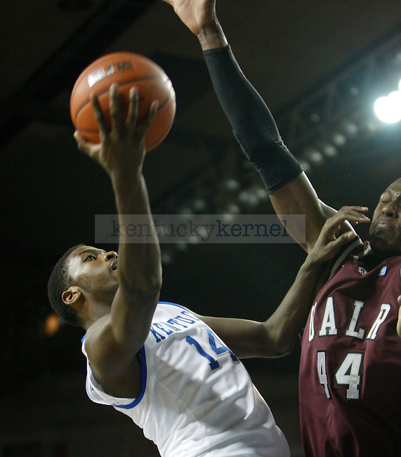 UK's Michael Kidd-Gilchrist goes for a layup in the first half against Arkansas - Little Rock at Freedom Hall on Tuesday, Jan. 3, 2012. Photo by Scott Hannigan | Staff