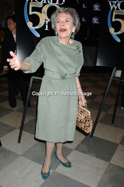 "Helen Wagner ....at The 50th  Anniversary Party for ""As The World Turns""..on March 23, 2006 at The Museum of Television  and Radio...Robin Platzer, Twin Images"