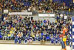 ROTTERDAM -  Publiek op de tribunes tijdens de  finale zaalhockey om het Nederlands kampioenschap tussen de  vrouwen  van Amsterdam en MOP.  Amsterdam wint de finale en dus het Kampioenschap.ANP KOEN SUYK
