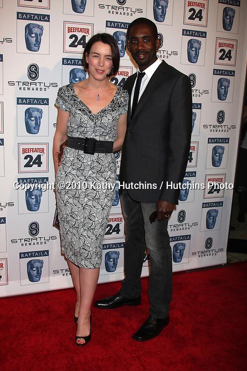 Olivia Williams & Husband Rhashan Stone .arriving at the BAFTA/LA Awards Season Tea Party 2010.Beverly Hills Hotel.Beverly Hills, CA.January 16, 2010.©2010 Kathy Hutchins / Hutchins Photo....