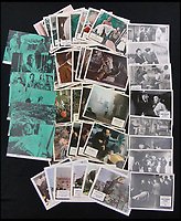 BNPS.co.uk (01202 558833)<br /> Pic: Burstow&amp;Hewett/BNPS<br /> <br /> Over 100 early horror lobby cards including - IT, The Gorgon, Monster of Terror, The Reptile and Reptilicus.<br /> <br /> A late film buff's collection of 400 vintage movie posters has emerged for auction and is tipped to sell for &pound;15,000.<br /> <br /> The collection was amassed by a man who worked for several decades at the Marble Arch Odeon cinema in London which in its heyday was one of the capital's flagship cinemas.<br /> <br /> He sadly died a couple of years ago but bestowed the posters - which once were on display in the cinema - to a life-long friend who has decided to put them on the market.<br /> <br /> Many of the posters are from classic film franchises including Star Wars and James Bond as well as iconic Disney films such as Snow White and the Seven Dwarfs and Cinderella.