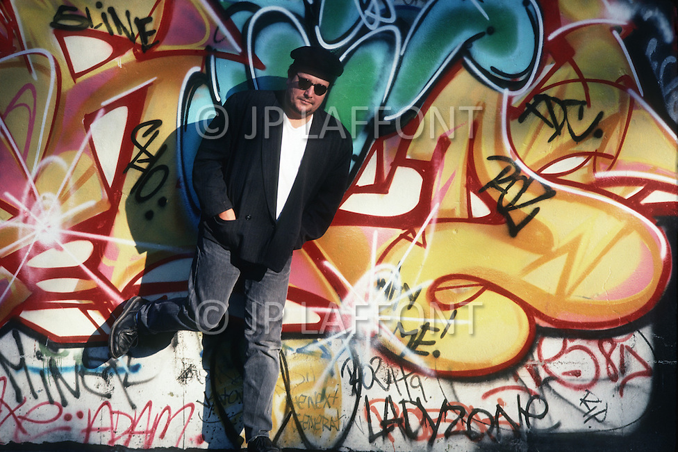 Manhattan, New York - October 5, 1988. French designer and architect Philippe Starck visits Harlem.