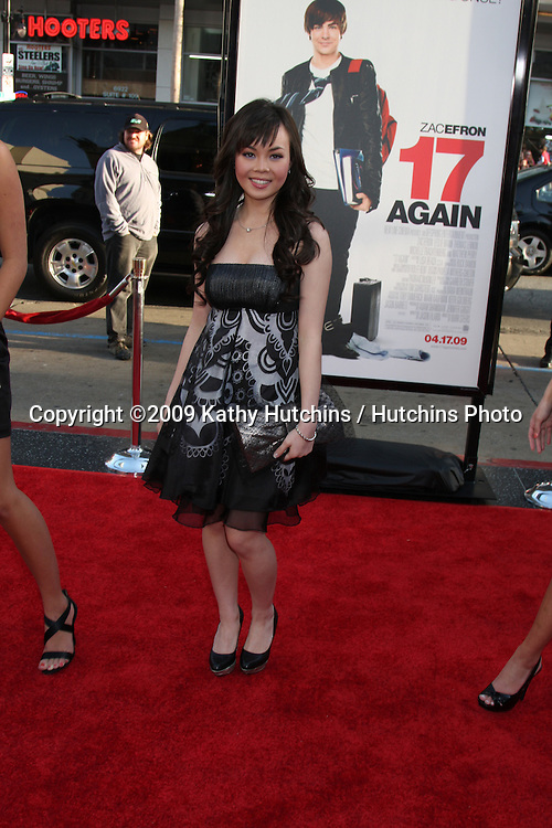 Anna Maria Perez de Tagle arriving at the 17 Again Premiere at Grauman's Chinese Theater in Los Angeles, CA on April 14, 2009.©2009 Kathy Hutchins / Hutchins Photo....                .