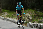 Jon Izaguirre (ESP) Astana Pro Team climbs during Stage 8 of the 77th edition of Paris-Nice 2019 running 110km from Nice to Nice, France. 16th March 2019<br /> Picture: ASO/Alex Broadway | Cyclefile<br /> All photos usage must carry mandatory copyright credit (&copy; Cyclefile | ASO/Alex Broadway)