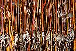 Collection of vintage sterling silver custom made horse bits. Santa Margarita, California