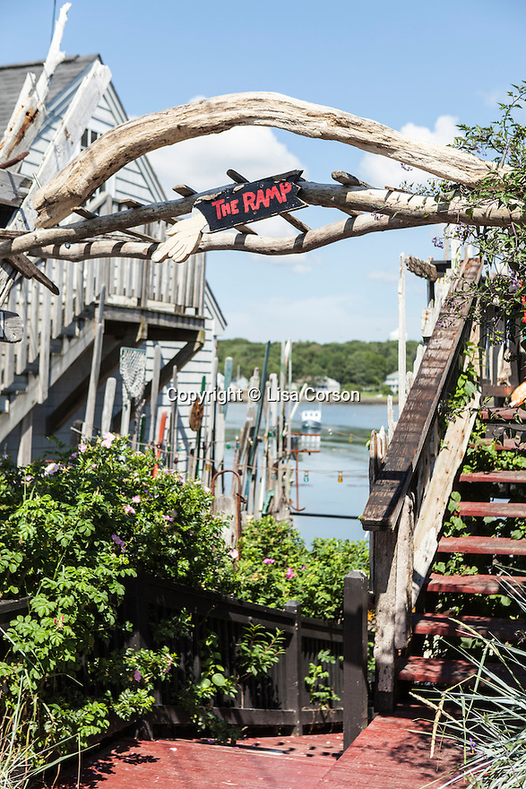 The Ramp restaurant, below Pier 77 restaurant, Kennebunkport, ME. Images are available for editorial licensing, either directly or through Gallery Stock. Some images are available for commercial licensing. Please contact lisa@lisacorsonphotography.com for more information.