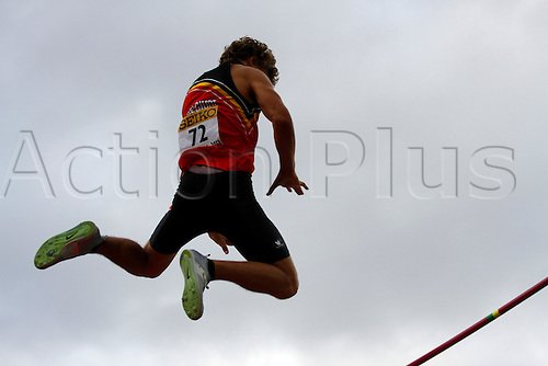 12.07.2012 Barcelona, Spain. Pole Vault Men in Arnau Art BEL action during day three of the IAAF World Junior Championships from the Montjuic Olympic Stadium in Barcelona.