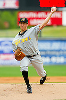 Starting pitcher Zack Dodson #34 of the West Virginia Power in action against the Kannapolis Intimidators at Fieldcrest Cannon Stadium on April 20, 2011 in Kannapolis, North Carolina.   Photo by Brian Westerholt / Four Seam Images