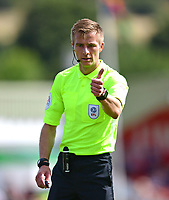 Referee Michael Salisbury<br /> <br /> Photographer Chris Vaughan/CameraSport<br /> <br /> The EFL Sky Bet League Two - Lincoln City v Swindon Town - Saturday 11th August 2018 - Sincil Bank - Lincoln<br /> <br /> World Copyright &copy; 2018 CameraSport. All rights reserved. 43 Linden Ave. Countesthorpe. Leicester. England. LE8 5PG - Tel: +44 (0) 116 277 4147 - admin@camerasport.com - www.camerasport.com