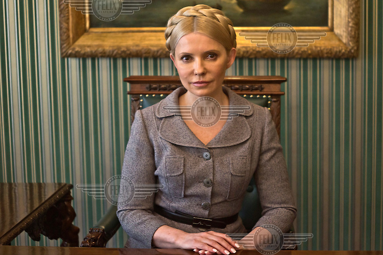 Yulia Tymoshenko, former Prime Minister of Ukraine and currently leader of opposition party All-Ukrainian Union 'Fatherland'.