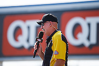 Sep 18, 2016; Concord, NC, USA; NHRA announcer Alan Reinhart during the Carolina Nationals at zMax Dragway. Mandatory Credit: Mark J. Rebilas-USA TODAY Sports