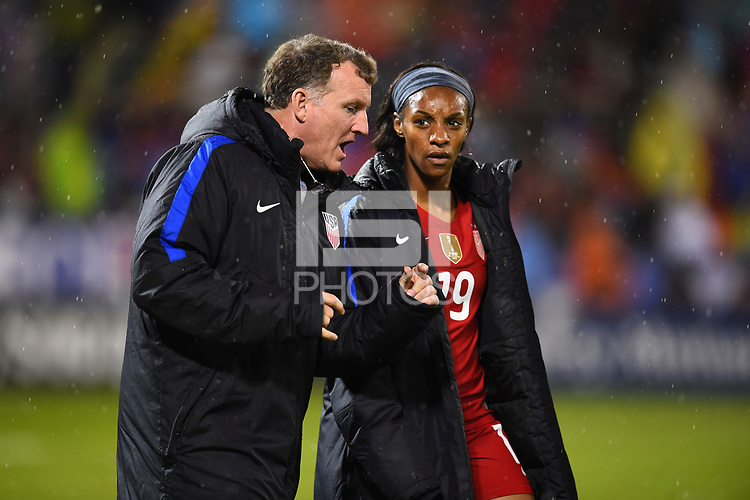 Washington, D.C. - March 7, 2017: France goes up 2-0 over the U.S. Women's national team in second half play in a SheBelieves Cup match at RFK Stadium.