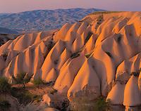 Tufaceous Rock Formations, Goreme National Park, Turkey   Cappadocia Region   Volcanic deposits near Uchisar