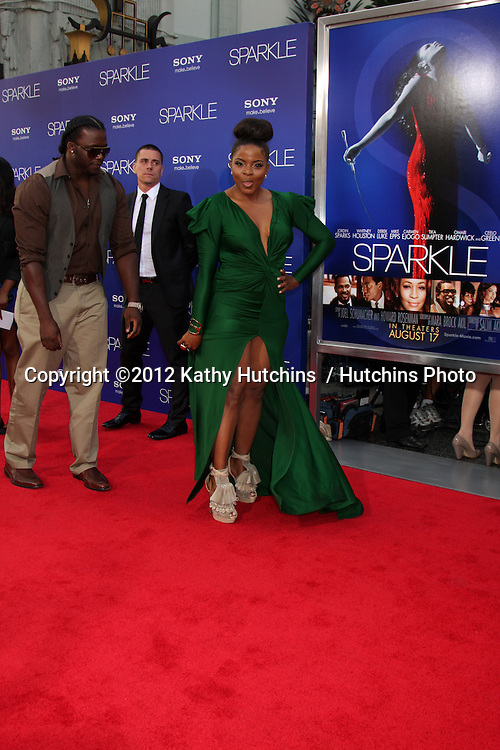 "Los Angeles - AUG 16:  Bre'ly Evans arrives at the ""Sparkle""  Premiere at Graumans Chinese Theater on August 16, 2012 in Los Angeles, CA"