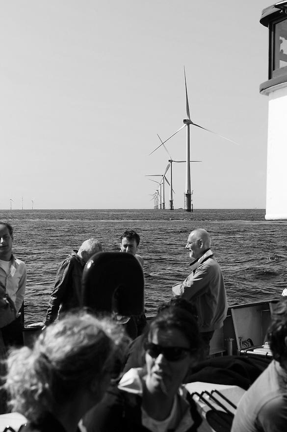 Nederland, IJmuiden, 6 juni 2014<br /> Windpark Egmond aan Zee, in de noordzee.<br /> Foto (c) Michiel Wijnbergh