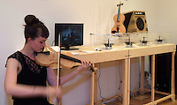 Luca Alessandrini, Innovation Design Engineering, 2016.<br /> Biomaterials and Music: Luca Alessandrini has used a silk-based composite to make two prototype violins &shy;&shy;&ndash; products that are both elegant and sustainable.