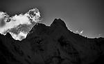 Jirishanca in Shadow, Cordillera Huayuash, Peru