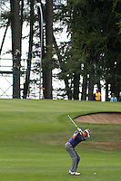 David Lynn (ENG) on the 6th during the final day of the Omega European Masters, Crans-Sur-Sierre, Crans Montana, Switzerland.4/9/11.Picture: Golffile/Fran Caffrey..