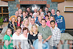 Going home.----------.Krista and Steven Walker(standing centre)of the Kerry Deaf Resource Centre Gas Terrace Tralee who spent time in Ireland as part of the Fulbright Research and teaching fellowship bid fairwell to their friends in Gallys bar/restaurant Castlemaine Rd Tralee last Saturday night as they are returning to their home state of Washington DC next week.   Copyright Kerry's Eye 2008