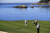 Dermot Desmond (IRL) plays his 2nd shot on the 6th hole at Pebble Beach course during Friday's Round 2 of the 2018 AT&amp;T Pebble Beach Pro-Am, held over 3 courses Pebble Beach, Spyglass Hill and Monterey, California, USA. 9th February 2018.<br /> Picture: Eoin Clarke | Golffile<br /> <br /> <br /> All photos usage must carry mandatory copyright credit (&copy; Golffile | Eoin Clarke)