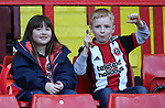 Sheffield Utd fans during the championship match at the Bramall Lane Stadium, Sheffield. Picture date 14th April 2018. Picture credit should read: Simon Bellis/Sportimage