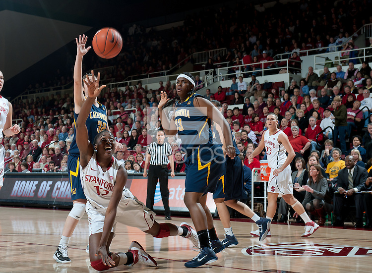 STANFORD, CA - March 3, 2010: Stanford Cardinal's Chiney Ogwumike during Stanford's game against University of California at Maples Pavilion in Stanford, California.