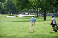 Francesco Molinari (ITA) looks over his approach shot on 3 during round 4 of the 2019 Charles Schwab Challenge, Colonial Country Club, Ft. Worth, Texas,  USA. 5/26/2019.<br /> Picture: Golffile | Ken Murray<br /> <br /> All photo usage must carry mandatory copyright credit (© Golffile | Ken Murray)