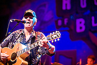 Dale Hawkins performs at the 8th annual Ponderosa Stomp, held at the House of Blues in New Orleans on April 28, 2009.<br /> <br /> Dale Hawkins is a noted rockabilly singer and guitar player from Louisiana, most famous for writing the song &quot;Susie Q&quot;, later covered to much greater fame by Creedence Clearwater Revival.  <br /> <br /> The Ponderosa Stomp is an annual music festival held in New Orleans since 2002 that celebrates the uncelebrated names in American musical history.  The festival spotlights musicians who have contributed to the American roots musical canon in various genres, from rockabilly to soul to rock and roll to jazz to experimental.  For two nights of the year these mostly forgotten names perform to an audience of aficionados whose memory has not faded and turn back the clock with blistering performances of the hits that did or (in the case of the regional musicians that plugged away unknown to the world at large, as well as those whose songs were recorded to acclaim by other musicians) did not make them famous.  <br /> <br /> In addition to the two nights of performances the Ponderosa Stomp Foundation (the non-profit founded by the eccentric Dr. Ira Padnos and his coterie of like minded music fanatics the Mystic Knights of the Mau Mau) also produces two days of the Music History Conference, where many of the performers, as well as other music industry names, share stories of their lives in the business.  The Conferences take place in the Louisiana State Museum at the Cabildo in Jackson Square.