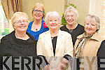 Enjoying the Sean Chairde tea dance in the Killarney Oaks on Sunday were Joan McCarthy, Beaufort, Maura Fitzgerald, Castlemaine, Eileen McGillycuddy, Killorglin, Elaine Scully, Beaufort and Margaret Sweeney, Beaufort.....