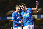 Lee McCulloch celebrates with Fraser Aird