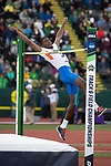 EUGENE, OR - JUNE 09: Clayton Brown of the University of Florida competes in the high jump during the Division I Men's Outdoor Track & Field Championship held at Hayward Field on June 9, 2017 in Eugene, Oregon. Brown tied for 9th place with a 2.13 meter jump. (Photo by Jamie Schwaberow/NCAA Photos via Getty Images)