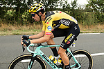 Wout Van Aert (BEL) Team Jumbo-Visma in action during Stage 1 of Criterium du Dauphine 2020, running 2185km from Clermont-Ferrand to Saint-Christo-en-Jarez, France. 12th August 2020.<br /> Picture: ASO/Alex Broadway | Cyclefile<br /> All photos usage must carry mandatory copyright credit (© Cyclefile | ASO/Alex Broadway)