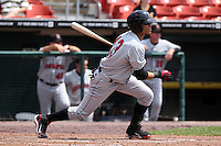 Indianapolis Indians outfielder Gorkys Hernandez #13 during a game against the Buffalo Bisons at Coca-Cola Field on June 9, 2011 in Buffalo, New York.  Buffalo defeated Indianapolis 15-2.  Photo By Mike Janes/Four Seam Images