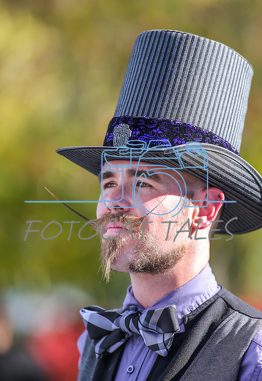 David Turner competes in the Nevada Day Beard Competition in Carson City, Nev., on Saturday, Oct. 31, 2015. <br /> Photo by Cathleen Allison